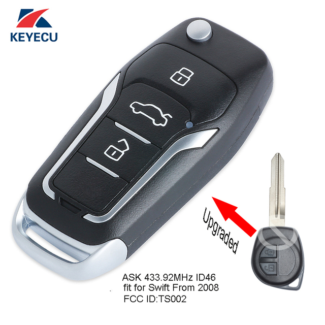 Aliexpress Com Buy Keyecu Replacement Upgraded Flip Remote Key Fob
