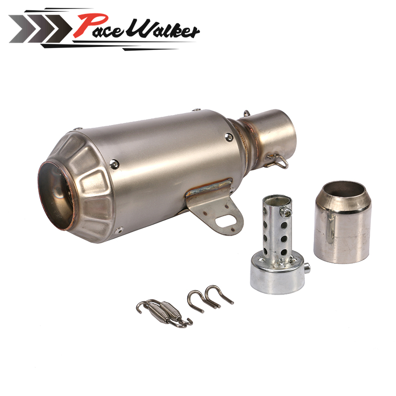 цена на Universal TITANIUM MOTORCYCLE EXHAUST MUFFLER EXHAUST MOTORCYCLE SCOOTER EXHAUST PIPE MUFFLER DIRT BIKE MUFFLER