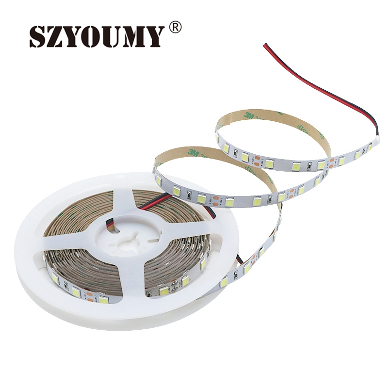 Lights & Lighting Led Lighting Impartial Szyoumy 50m 5054 Led Strip Light 60leds/m 120leds/m Non Waterproof 12v 300 600 Led Stripe Flexible Led Ribbon Tape Lamp White Utmost In Convenience