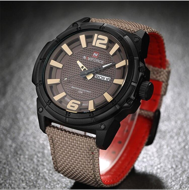 Man Watches Nylon Strap Militar Shockproof Waterproof Watch Xfcs Navi Force Men Clock