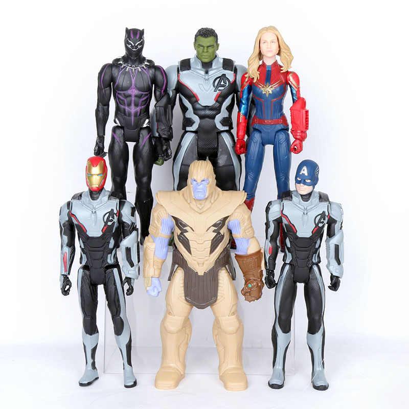 Brinquedos maravilha Vingador Endgame 30 centímetros Filme Super Hero thanos rman hulk thor Capitão América homem de Ferro homem Aranha Figura modelo Brinquedos