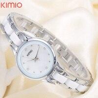 KIMIO Fashion Brand Quartz Watch Waterproof Bracelet Watch For Women Rhinestone Alloy Band Wrist Watch Relogio