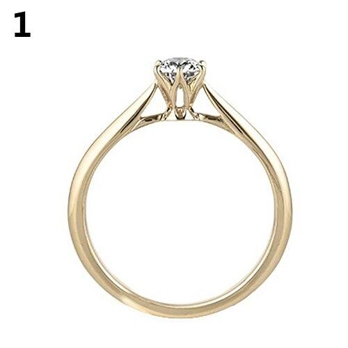 b402c65a543e Φ ΦEncantadora deslumbrante rhinestone boda joyería del anillo de ...