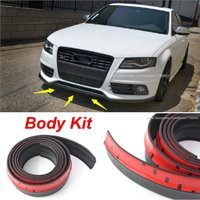 Car Front Lip Side Skirt Body Kit Trim Front Bumper Lip For AUDI A1 A3 A4 A5 For Audi a4 b8 SQ5 Q1 TT TTS R8 RS5 RS7 All Car