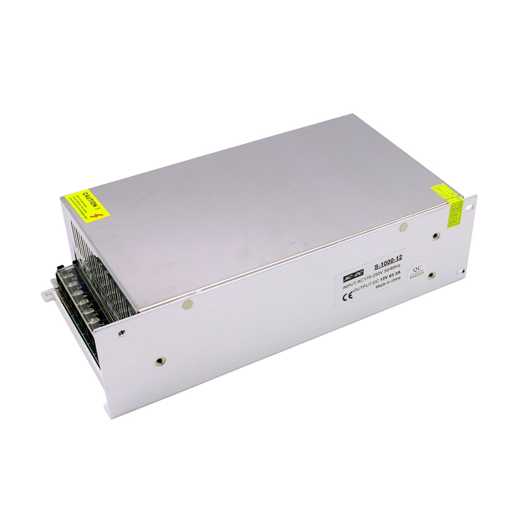 Free Shipping 12V 1000W Switching Power Supply Driver for LED Light Strip Display AC 220V Input 50w 4 2a input 100v 240v ac to dc12v switching power supply ms 50 12 driver for led light strip transformer free shipping