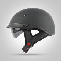 THH T72 Harley Stil motorrad helm Chopper bike helm berufs DOT motorrad helm mit interne sonnenbrille Motorrad