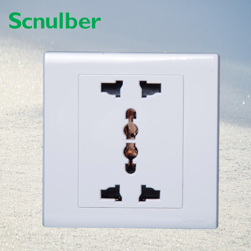 EU AU US UK standard double multi funcational 3p 3 poles wall switch socket outlet eu committees