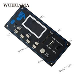 Image 3 - 12V DIY Car Radio Bluetooth Audio Stereo Player LED Lyric Display Phone AUX IN MP3 FM/USB/Radio Remote Control Card Reader Modul