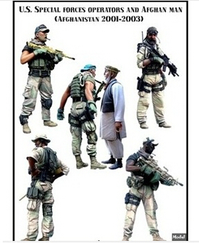ФОТО Scale Models 1/35 US special forces and civilians in six groups Resin Model Free Shipping