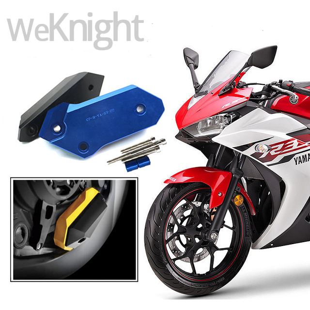 New Motorcycle Accessories CNC Engine Cover Right Crash Pads Frame Protector Sliders for YAMAHA YZF-R3 YZF R3 2015 2016 15-16