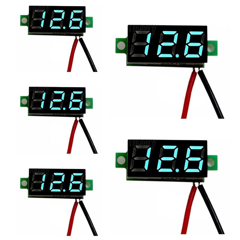 5x Red DC 0-30V LED Display Digital Voltage Voltmeter Panel Car Motorcycle