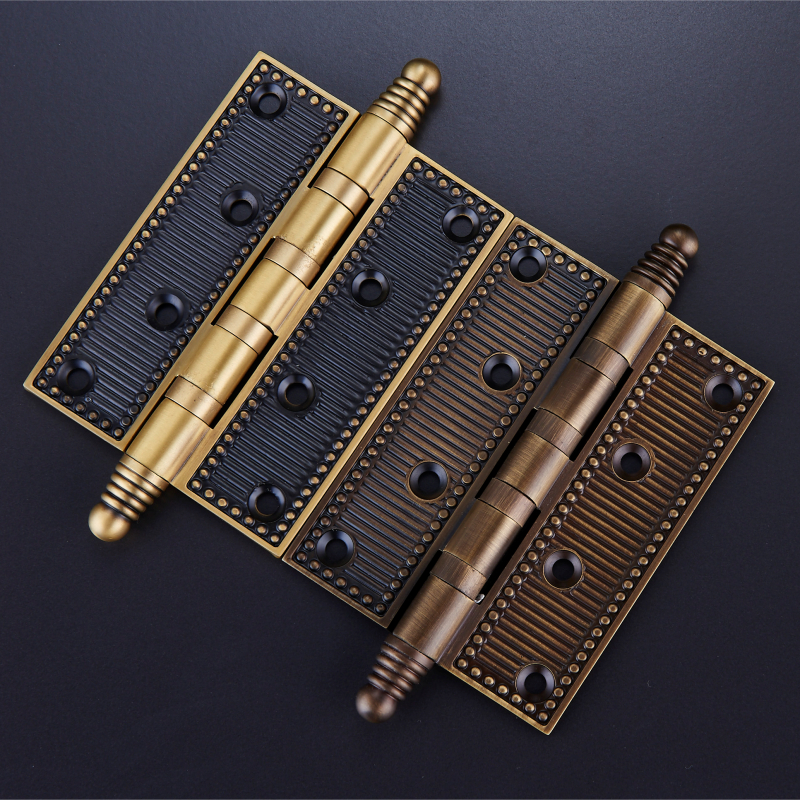 One pair/4 Inch Brass Furniture Hardware Hinges/ 5 inch Mute Door Bearing Hinges With Screws One pair/4 Inch Brass Furniture Hardware Hinges/ 5 inch Mute Door Bearing Hinges With Screws