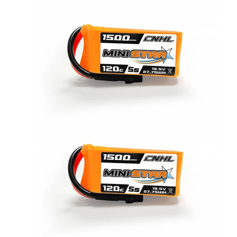 1 2 3PCS CNHL MiniStar 18 5V 1500mAh 5S 120C Lipo battery XT60U Plug for RC