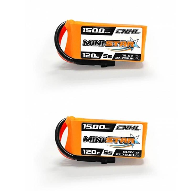 1/2/3 pcs CNHL MiniStar 18.5 V 1500 mAh 5 S 120C Lipo batterie XT60U prise pour Drone RC FPV Racing Multi Rotor pièces Accs
