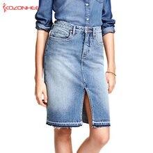 สูงเอวกระโปรงผู้หญิง DENIM ฤดูร้อนกางเกงยีนส์กระโปรง แฟชั่น