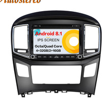 Android 8.1 Car CD DVD player GPS navigation For Hyundai H1 Grand Royale I800 2016 2017 2018 multimedia Head unit tape recorder