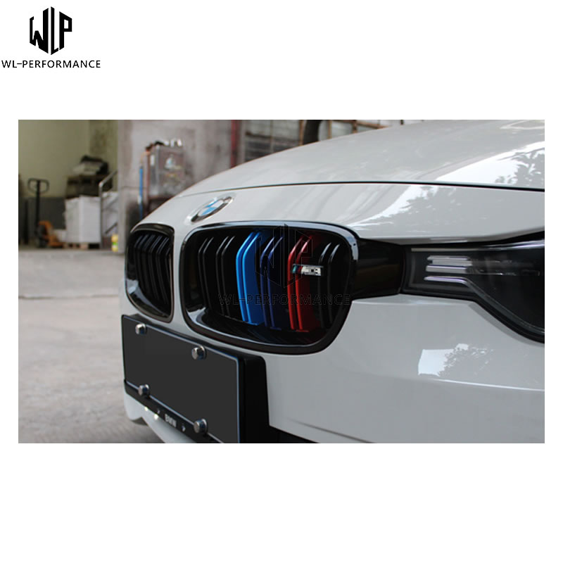 Real Carbon Fiber Front Grille Trim Cover Mesh Grill M3 Style for BMW F30 F35