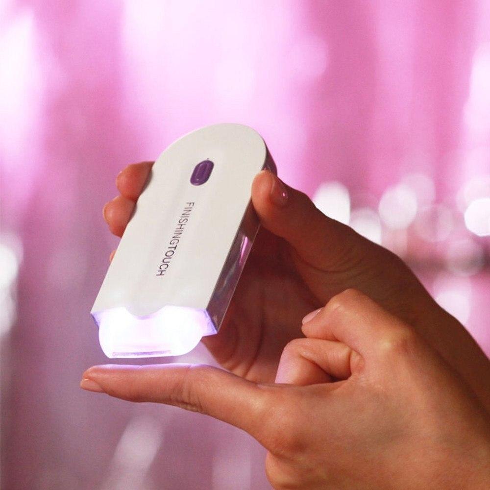 Ricaricabile Laser Macchina di Rimozione Dei Capelli Viso e Corpo a Base di Luce Permanente per Uso Domestico Tocco Finale Sì Hair Remover