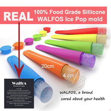 WALFOS real food grade Silicone Ice Pop Mold Popsicle maker Frozen tray DIY Ice Cream Tools Jelly Lolly mould For Popsicles