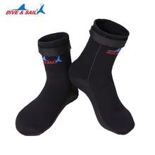 Погружение и парус 3 мм неопреновые носки для подводного плавания обувь царапинам Нескользящие зимние водные виды спорта Подводное плавание серфинг плавание сапоги