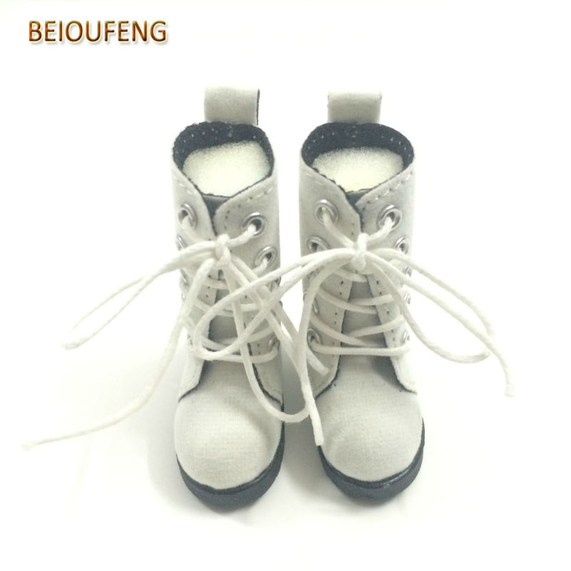 One Pair 5 CM Toy Shoes 1/6 BJD Doll Shoes for Russian Dolls,Beautiful Doll Boots 1/6 Scale Accessories for Dolls 5cm pu leather doll princess shoes for bjd dolls lace canvas mini toy shoes1 6 bjd snickers for russian doll accessories