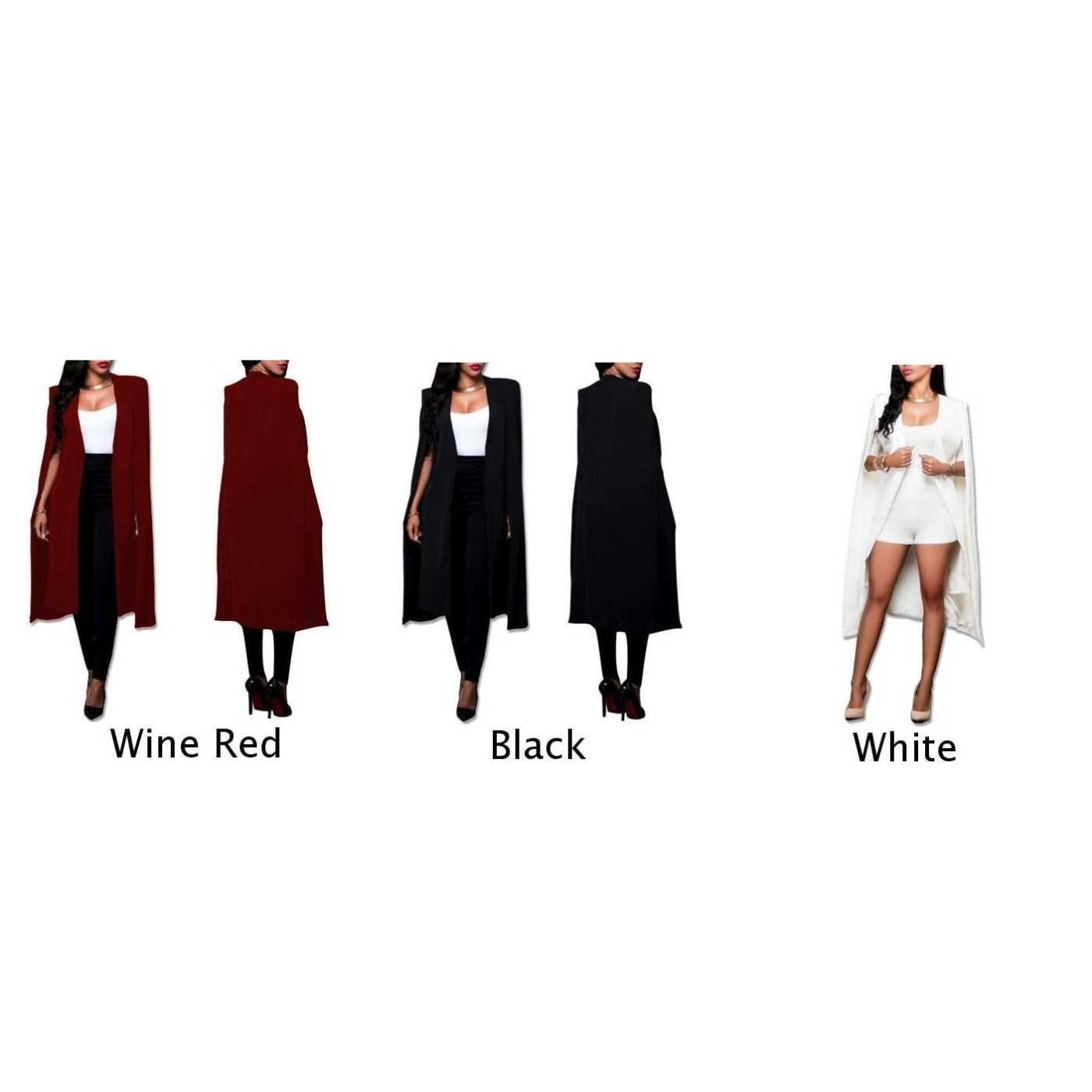 M ~ 4XL abrigo capa Mujer Cardigan otoño largo capa chaqueta Outwear talla grande 2018 moda nuevo caliente en venta cómoda