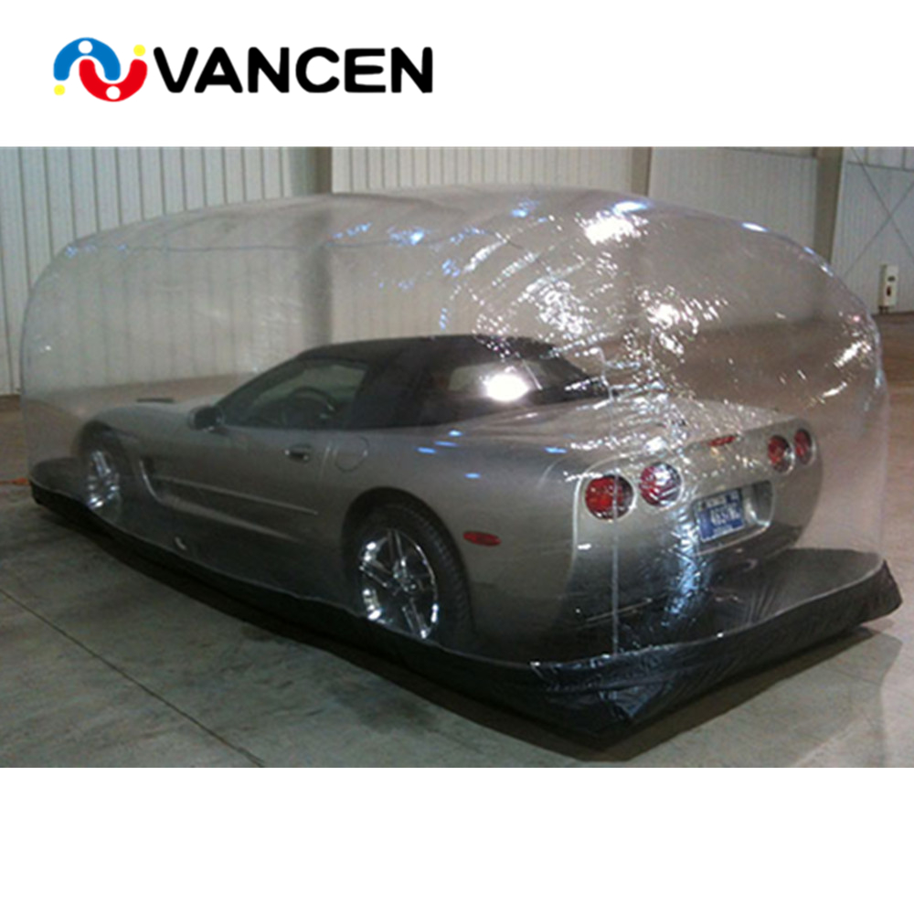 0.8mm PVC Waterproof Garage Cover Tent Protable Inflatable Car Shelter Car Capsule Showcase For Sale