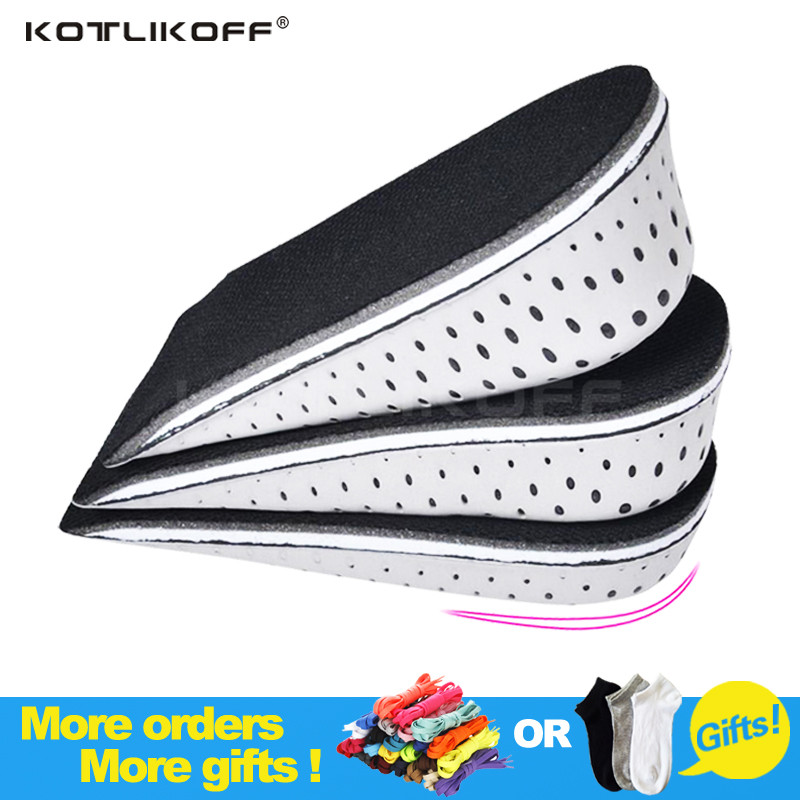 KOTLIKOFF Height Increase Insoles Breathable Half Insole Invisible EVA Foot Pad Shoe Lift Feet Care Men and Women Orthopedic kotlikoff 3 5cm half pad insoles women man up height increase shoe pad heel insoles pads invisible height increase shoe inserts