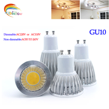 Super Bright GU 10 Bulbs Light 110V 220V Dimmable Led Warm/White 85-265V 9W 12W 15W GU10 COB LED lamp light GU 10 led Spotlight(China)