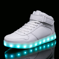 STRONGSHE 2017 New Children Shoes With Light Boys Girls Casual LED Shoes For Kids USB Charging