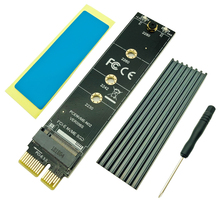 PCI-E PCI Express 3.0 X1 to M.2 M KEY Interface NVMe SSD PCIE M.2 Riser Card Adapter Heatsink SSD 2230 2242 2260 2280 Full Speed 2 port super speed usb 3 0 pci e express interface card adapter for pc with bracket