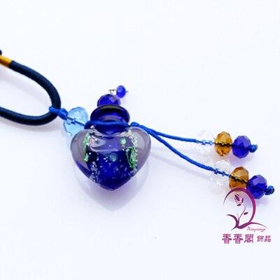 2 шт Духи из муранского стекла ожерелье s, ароматические флаконы, стеклянные подвески для духов, парфюмерное ожерелье флакон - Окраска металла: Dark Blue