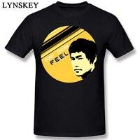 Männer T-shirt Bruce Lee Baumwolle Tops & Tees Coole Rundhals Kurzarm Freizeitkleidung Schlank Fit Angepasst Sommer Outfit
