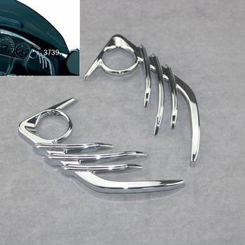 Przód motocykla dźwięk róg dekoracyjna pokrywa dla HONDA Goldwing GL1800 i F6B 2006-2017 plastik ABS Chrome tanie i dobre opinie JMZGTG ALL THINGS CN (pochodzenie) 0inch ABS Plastic Obejmuje listew ozdobnych 100g