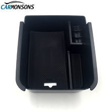 Carmonsons для VW Volkswagen Touran 2016 подлокотник ящик для хранения Контейнер держатель лоток машины Организатор Интимные аксессуары стайлинга автомобилей