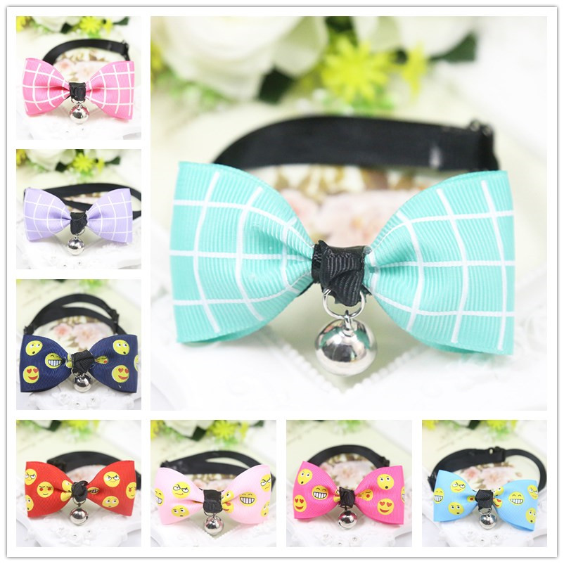 19 Style Cat Pet Dog Party Wedding Decoration Dog Bow Tie With Bell For Girl Boy Dog Children Cravat Lovely Tie With Multi Color