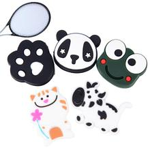 1pcs Anti-vibration Tennis Racket Damper Shock Absorber Cartoon Animals Multiple Pattern Soft Durable Vibration Dampeners(China)