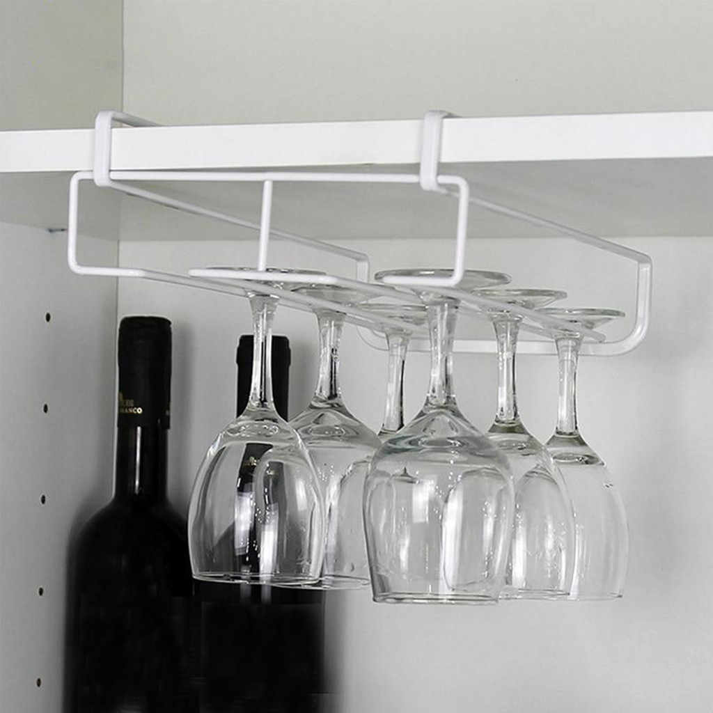 Stainless Steel Hanging Wine Rack Shelf