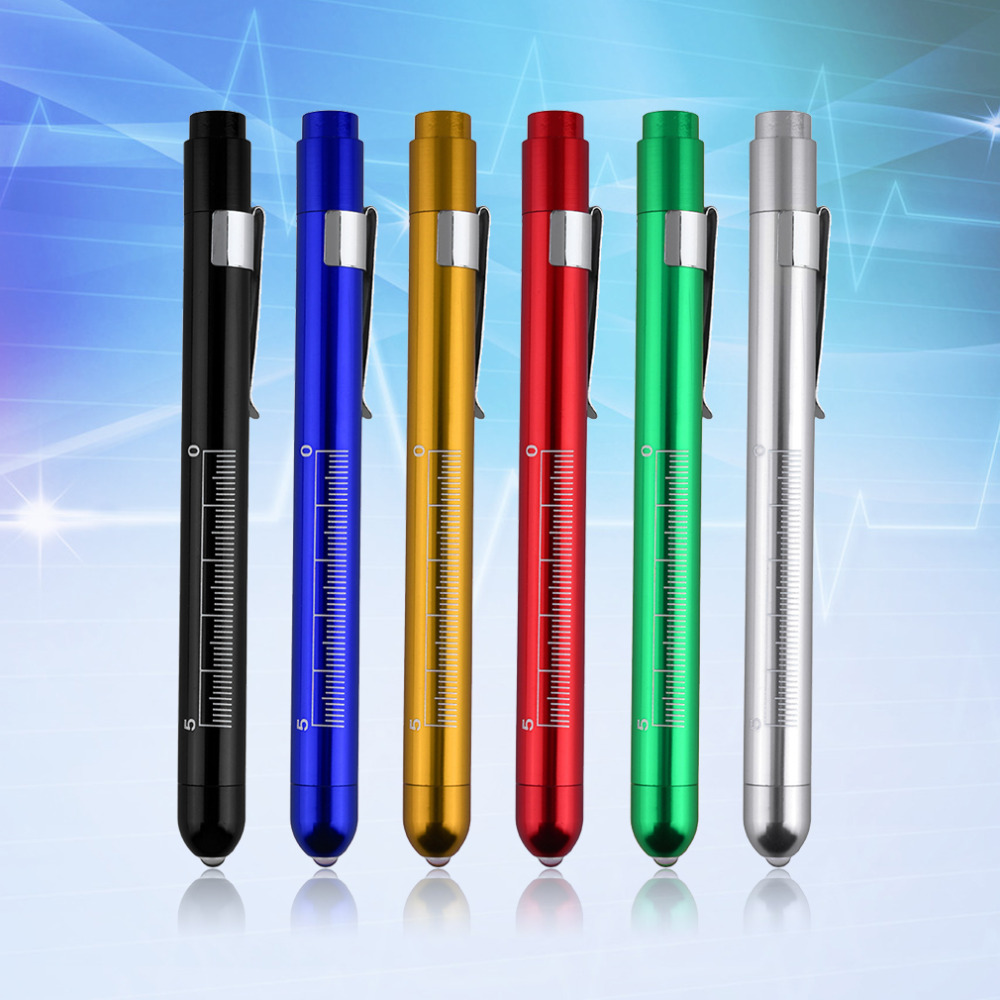 2 Pcs High Quality Penlight Pen Light Torch Emergency Medical Doctor Nurse Surgical First Aid Working Camping Necessity ...