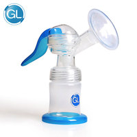 Gl New Manual Breast Pumps Silicone PP BPA Free Nipple Function 120ml Feeding Bottle Capacity Baby Manual Breast Feeding Pump