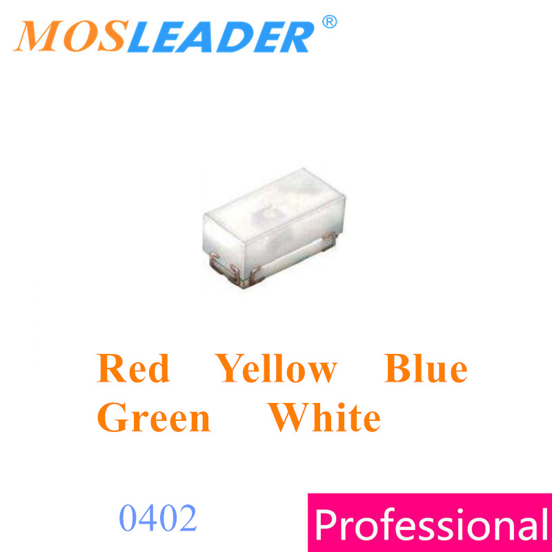 Mosleader SMD LED lights 0402 3000PCS Red Yellow Blue Green Emerald White  1005 Common led Made in China