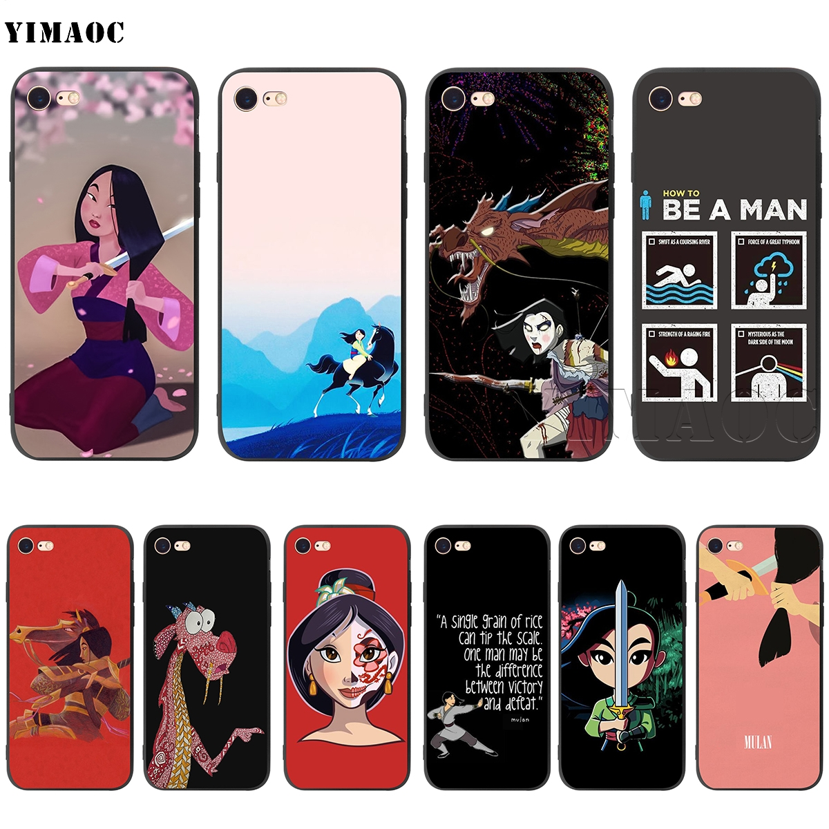 YIMAOC Cartoon Mulan Silicone Soft Case For IPhone XS Max XR X 8 7 6 6S Plus 5 5S SE