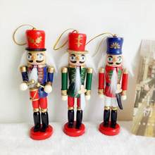 6pcsset christmas decorations nutcracker wooden soldier puppet 12cm tin toy 6 piece decorative pendant - Christmas Soldier Decorations