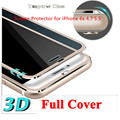 NEW 9H Titanium Alloy 3D Curved Edge full cover Ultra-clear Tempered Glass For  iPhone 6S  6S plus with clean tools