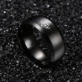 (1 pieces/lot) 100% Titanium steel ring  Black Ring For men