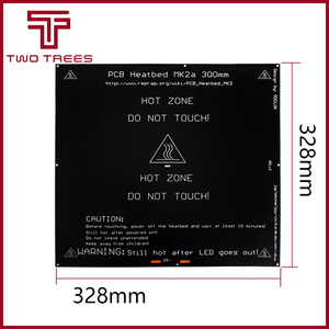 Image 5 - Nieuwe MK2A 300*300*3.0 Mm Reprap Ramps 1.4 Pcb Aluminium Heatbed Hete Plaat Voor Mendel Voor 3D printer MK2B 328*328*3.0 Mm