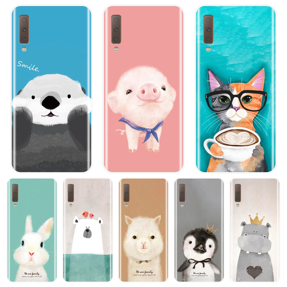 Soft Back Cover For <font><b>Samsung</b></font> <font><b>Galaxy</b></font> A3 A5 A7 2016 2017 Pink Pig <font><b>Cat</b></font> Phone <font><b>Case</b></font> Silicone For <font><b>Samsung</b></font> <font><b>Galaxy</b></font> A5 A7 <font><b>2018</b></font> A6 <font><b>A8</b></font> Plus image