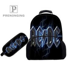 Custom 17inch ACDC (1)  Backpacks Pen Bags 3D Printing School Women Me