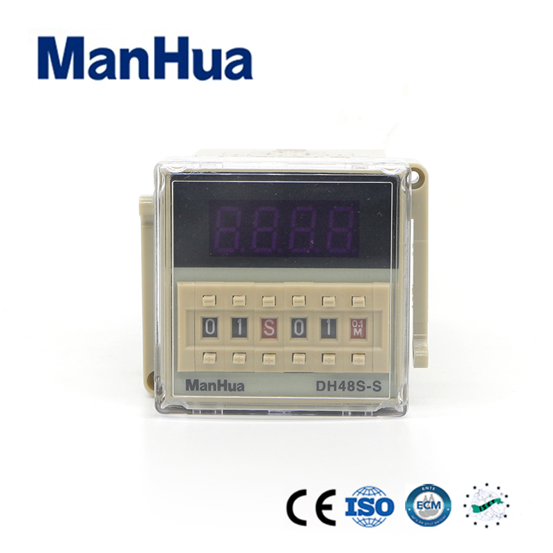 DH48S-S 0.1s 99h Repeat Cycle SPDT Time Relay 110VAC with 8 Pins Socket Base