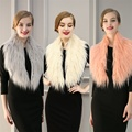 2016 new autumn winter women warm Long haired fur scarves girl fashion lady luxury  brand shawl Selling faux fur collar scarf